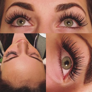 Lash Extensions Before and After Picture